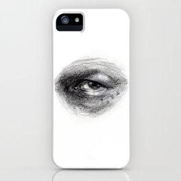 Eye Study Sketch 4 iPhone Case