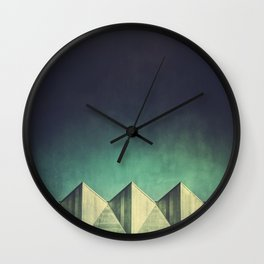 Geometric Skyline Wall Clock