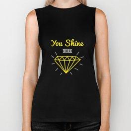 You shine like a diamond Biker Tank