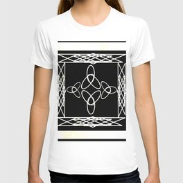 Celtic Deco Black and White T-shirt