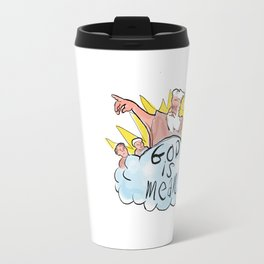 God Is Mean Travel Mug