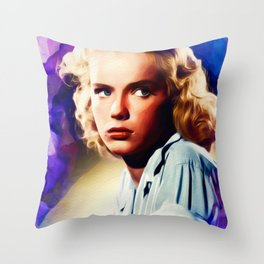 Anne Francis, Vintage Actress Throw Pillow