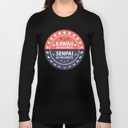 Kawaii & Senpai (Red/Blue) Long Sleeve T-shirt
