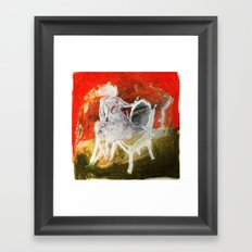Woman & Chair Framed Art Print