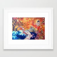 "blankets Framed Art Prints featuring ""Blankets Like Mountains"" by ShashArt"