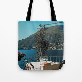 Lunch on the lake Tote Bag