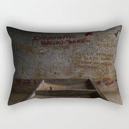 La salle de lavage de Vallegrande Hôpital // The Laundry Room of Vallegrande Hospital Rectangular Pillow