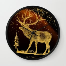 The Wapiti Wall Clock
