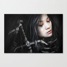 Glancing Back Canvas Print