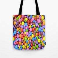 saga Tote Bags featuring Candy Crush Saga by ArtSchool