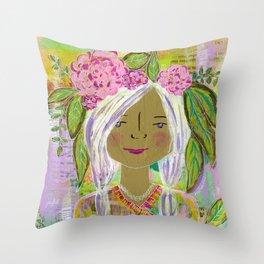 Warrior Spirit Johanna Throw Pillow