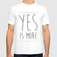 Yes is More Mens Fitted Tee MEDIUM White