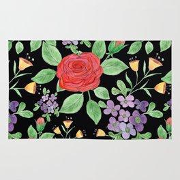 Watercolor floral pattern.7 Rug