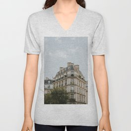 Paris Architecture Unisex V-Neck