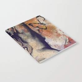 Sugar Coated Sour: Autumn (nude curvy pin up with butterflies) Notebook