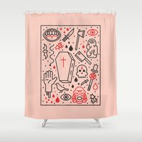 horror Shower Curtains featuring Good Clean Horror by Josh Ln