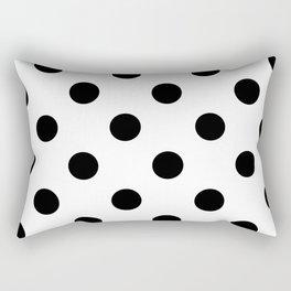 Polkadot (Black & White Pattern) Rectangular Pillow