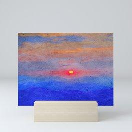 Paper-textured Sunset Mini Art Print