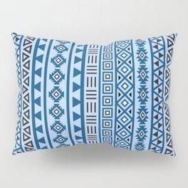 Aztec Influence Pattern II Blues Black White Pillow Sham