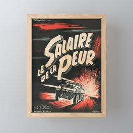 The Wages of Fear  - Vintage 1953 Film Poster Framed Mini Art Print