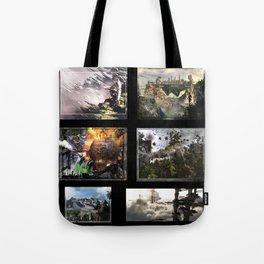3D Fantasy multi  Tote Bag