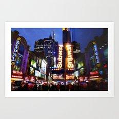 'Times Square NYC ~ BRIGHT LIGHTS' Art Print