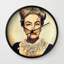 Joan Crawford, Hollywood Legend Wall Clock