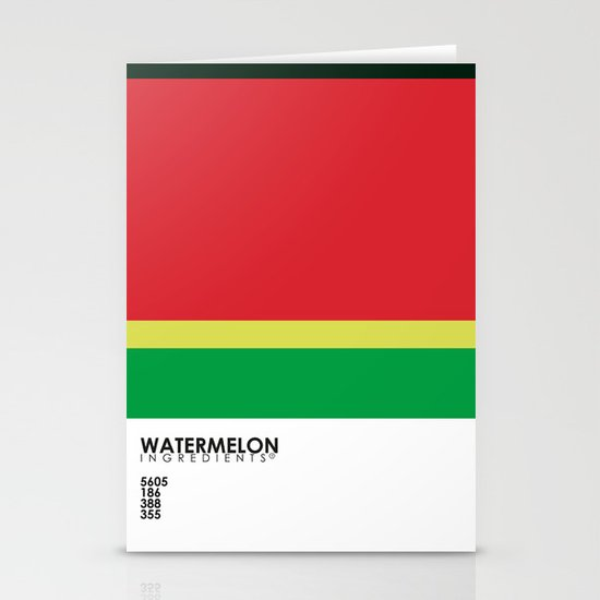 Pantone Fruit - Watermelon Stationery Cards