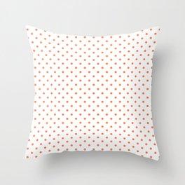 Dots (Coral/White) Throw Pillow