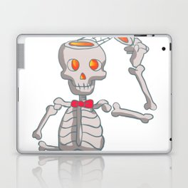 Funny skeleton with bowtie. Laptop & iPad Skin