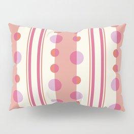 Modern Circles and Stripes in Peach and Cream Pillow Sham