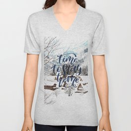 Time to Stay Home Unisex V-Neck