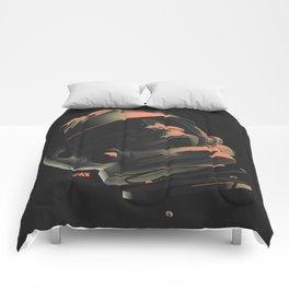 Space Skull Noir Comforters