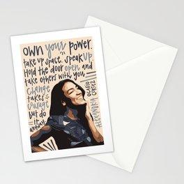 Alexandria Ocasio-Cortez. Stationery Cards