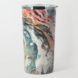 Abstract Circular Geode Watercolor Travel Mug