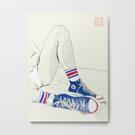 Tube Socks Metal Print