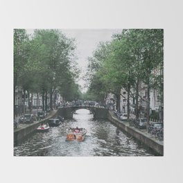 Canal Cruise Throw Blanket