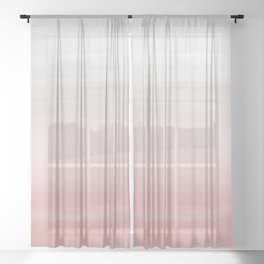 Touching Blush Gray Watercolor Abstract #1 #painting #decor #art #society6 Sheer Curtain