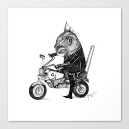 Fishy bike Canvas Print