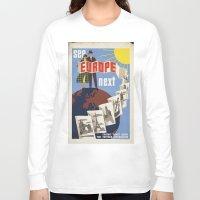 europe Long Sleeve T-shirts featuring EUROPE by Kathead Tarot/David Rivera