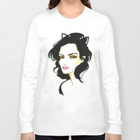 selena gomez Long Sleeve T-shirts featuring Selena Kyle by Made on Sundays