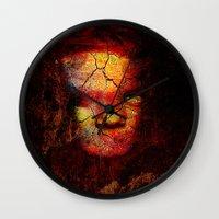 zombie Wall Clocks featuring Zombie by Joe Ganech