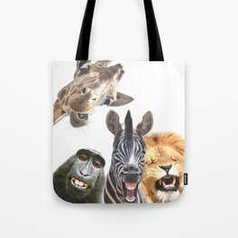 Jungle Animal Friends Tote Bag