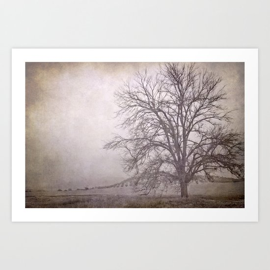 The big tree under the storm Art Print