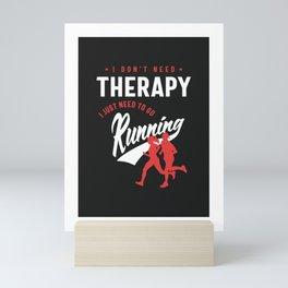 Running Therapy Mini Art Print