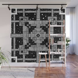 Lines and Spaces Wall Mural