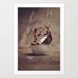 Surfin Cafe Art Print