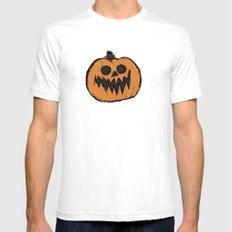 spoopy pumpkin  SMALL White Mens Fitted Tee