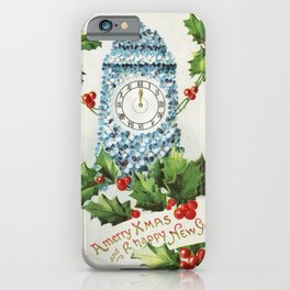 A Merry Christmas and a Happy New Year (1910) from The Miriam and Ira D Wallach Division of Art Prin iPhone Case