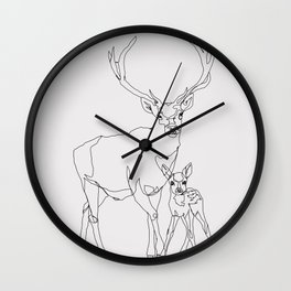 Bambi & Stag Wall Clock